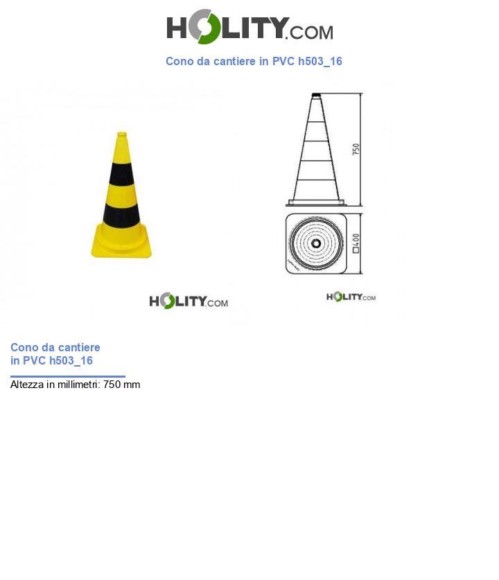 Cono da cantiere in PVC h503_16
