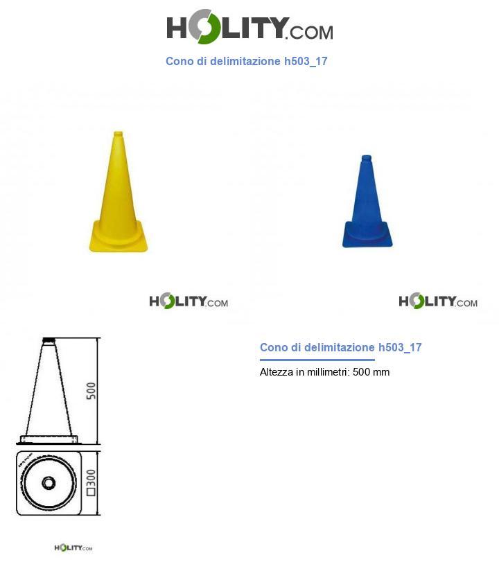 Cono di delimitazione h503_17