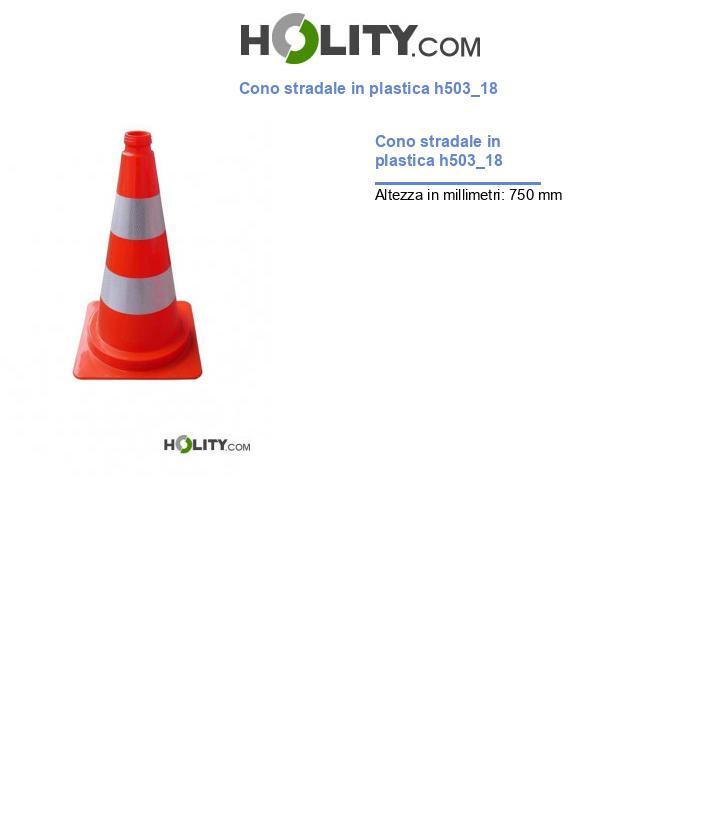 Cono stradale in plastica h503_18