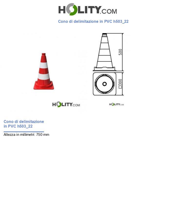 Cono di delimitazione in PVC h503_22