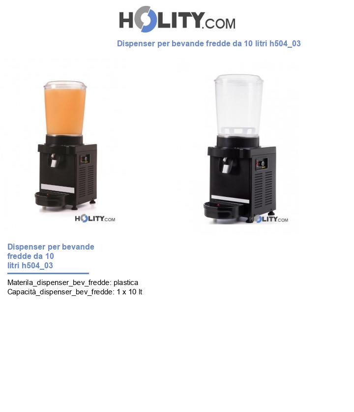 Dispenser per bevande fredde da 10 litri h504_03