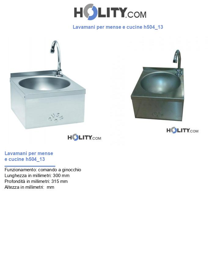 Lavamani per mense e cucine h504_13
