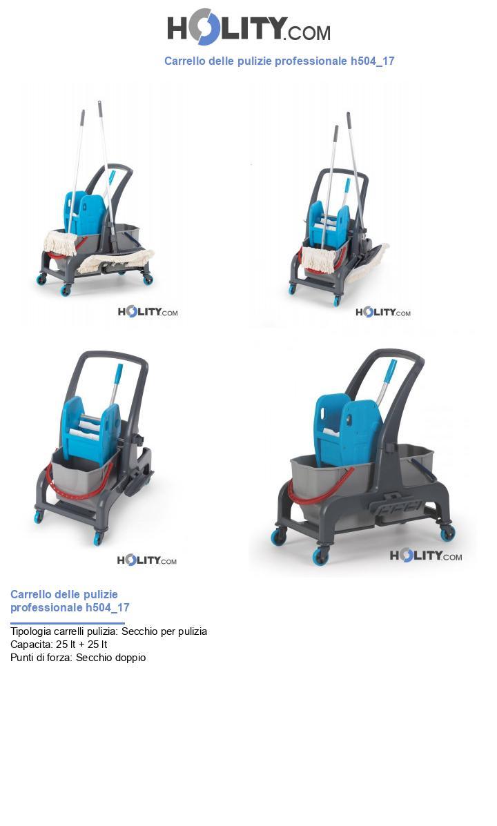 Carrello delle pulizie professionale h504_17