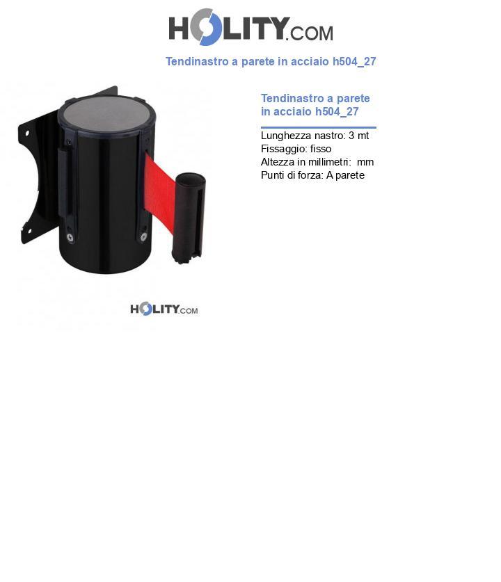 Tendinastro a parete in acciaio h504_27