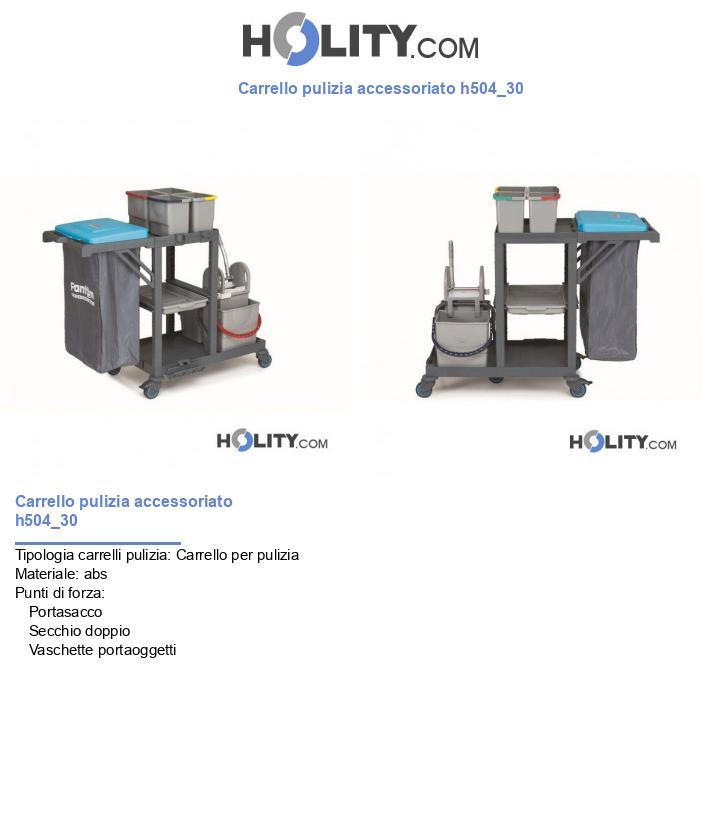Carrello pulizia accessoriato h504_30
