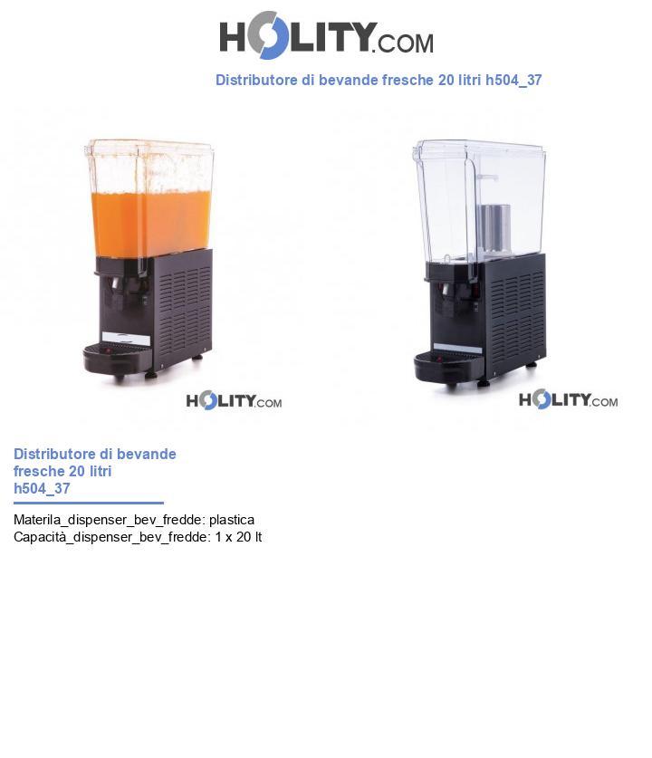 Distributore di bevande fresche 20 litri h504_37