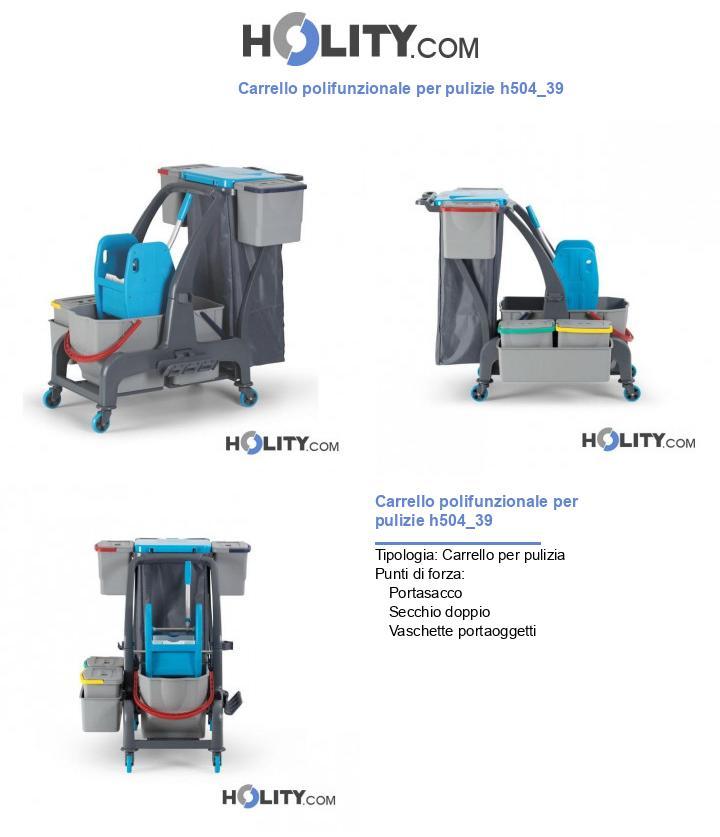 Carrello polifunzionale per pulizie h504_39