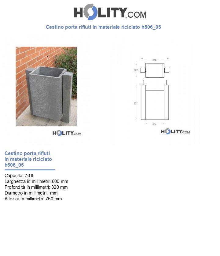 Cestino porta rifiuti in materiale riciclato h506_05