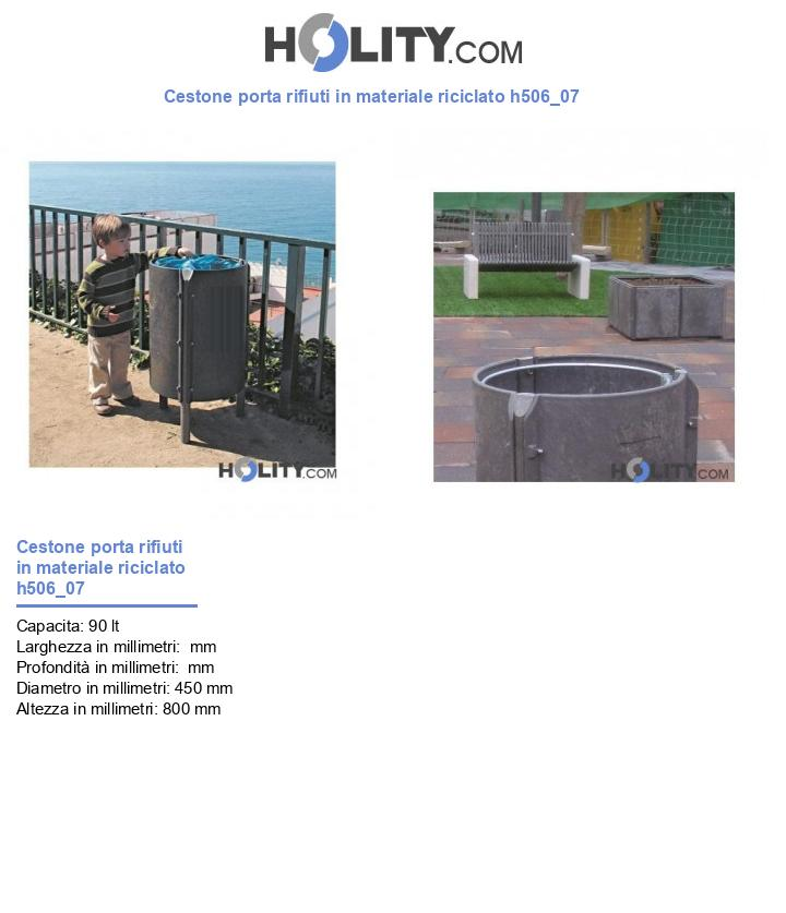 Cestone porta rifiuti in materiale riciclato h506_07