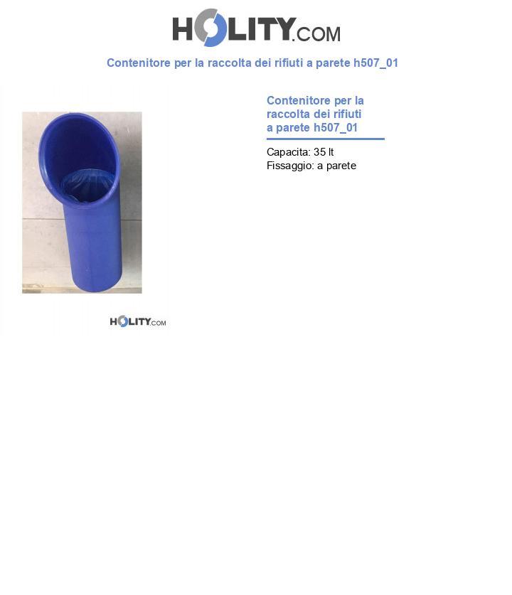 Contenitore per la raccolta dei rifiuti a parete h507_01