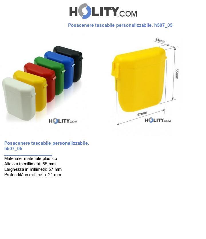 Posacenere tascabile personalizzabile. h507_05