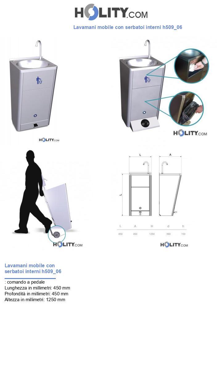 Lavamani mobile con serbatoi interni h509_06