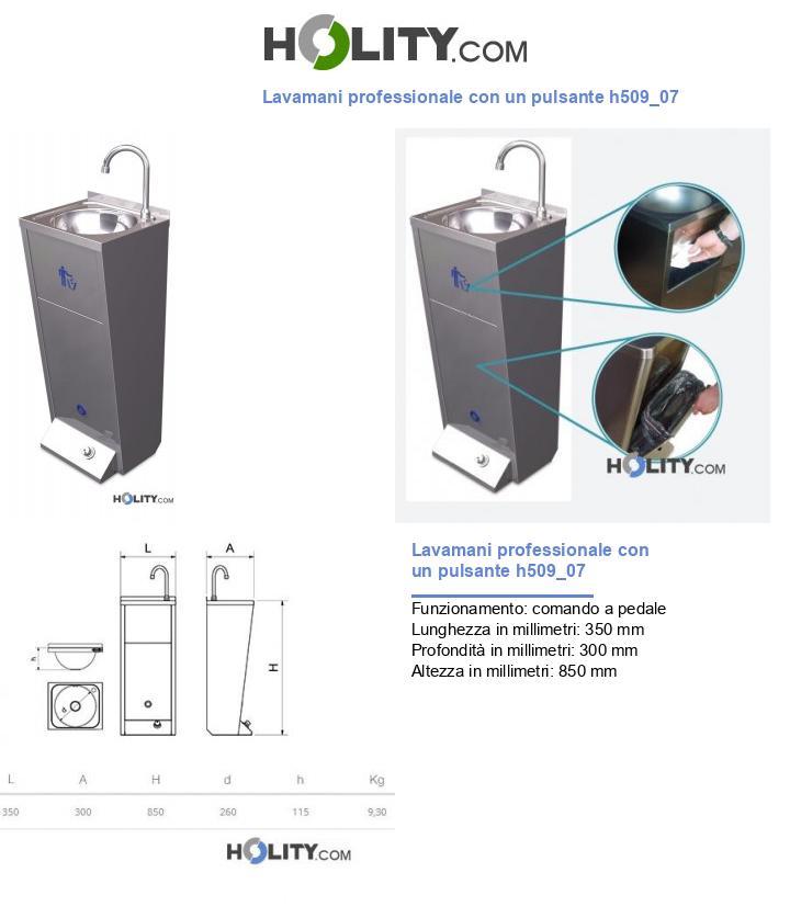 Lavamani professionale con un pulsante h509_07