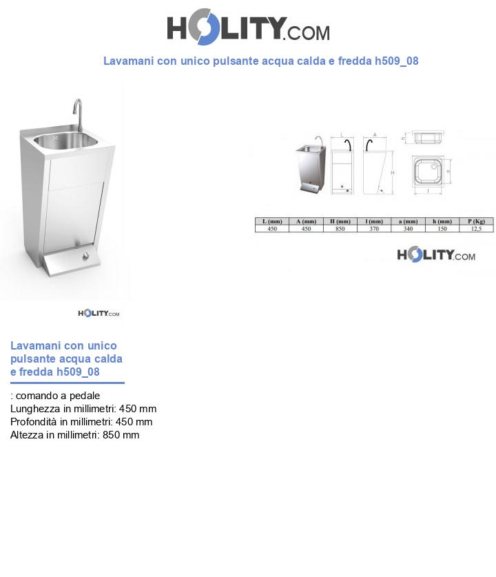 Lavamani con unico pulsante acqua calda e fredda h509_08