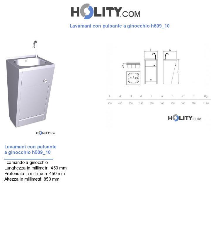 Lavamani con pulsante a ginocchio h509_10