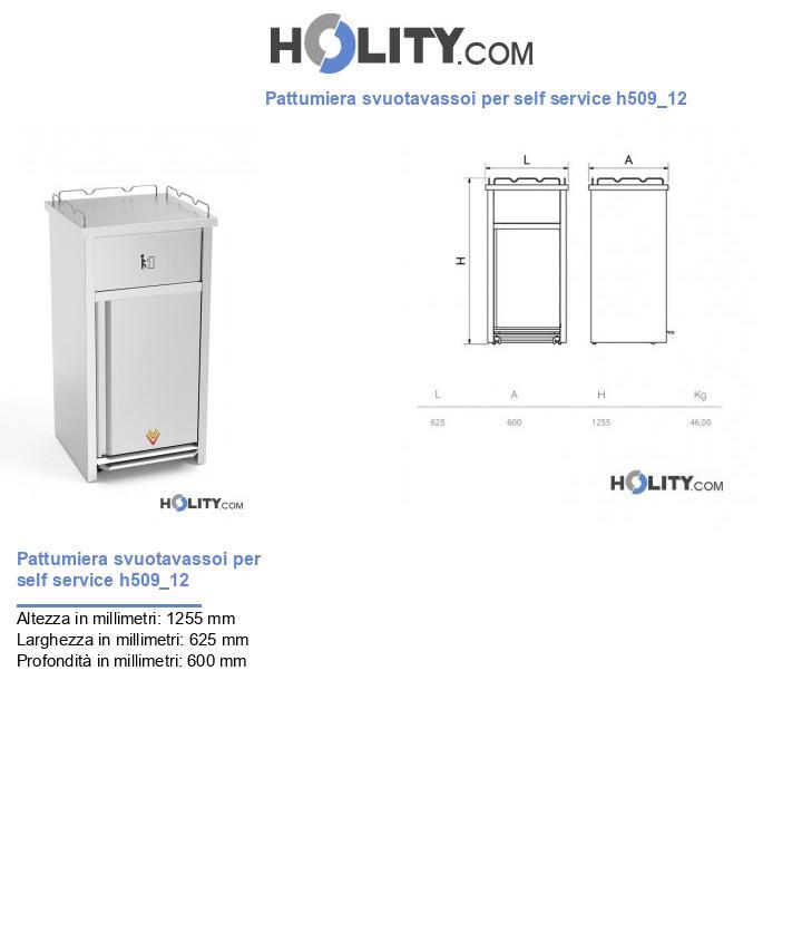 Pattumiera svuotavassoi per self service h509_12