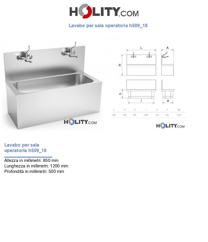 Lavabo per sala operatoria h509_18
