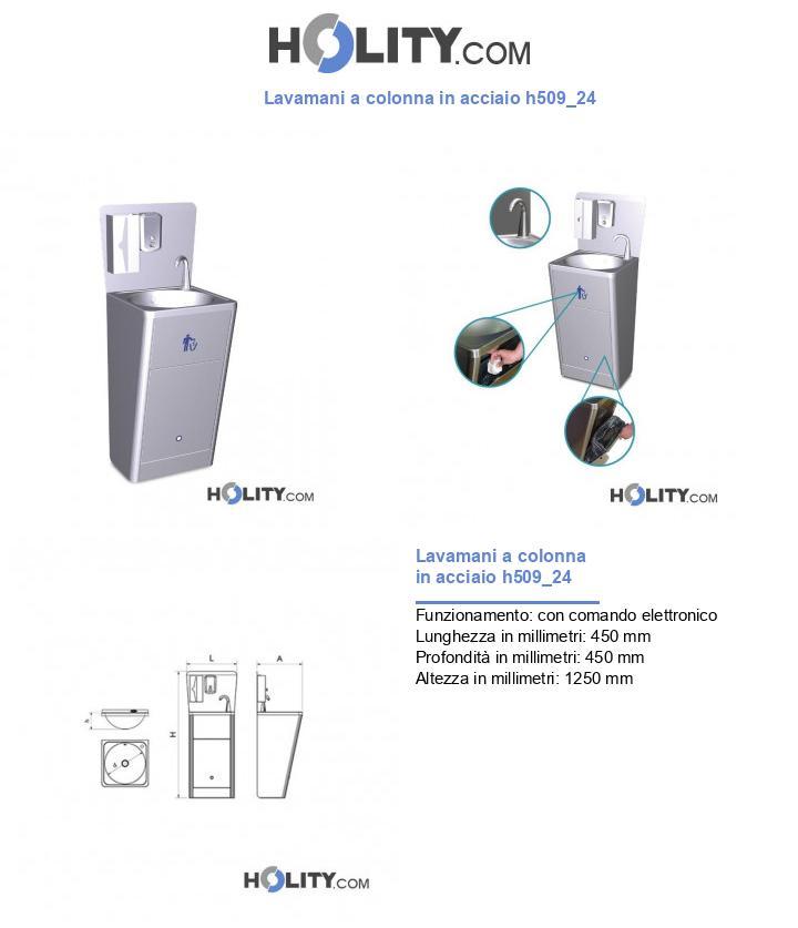 Lavamani a colonna in acciaio h509_24