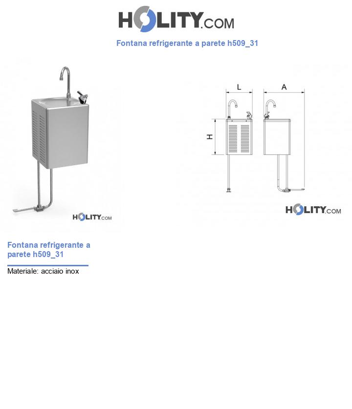 Fontana refrigerante a parete h509_31