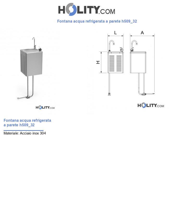 Fontana acqua refrigerata a parete h509_32