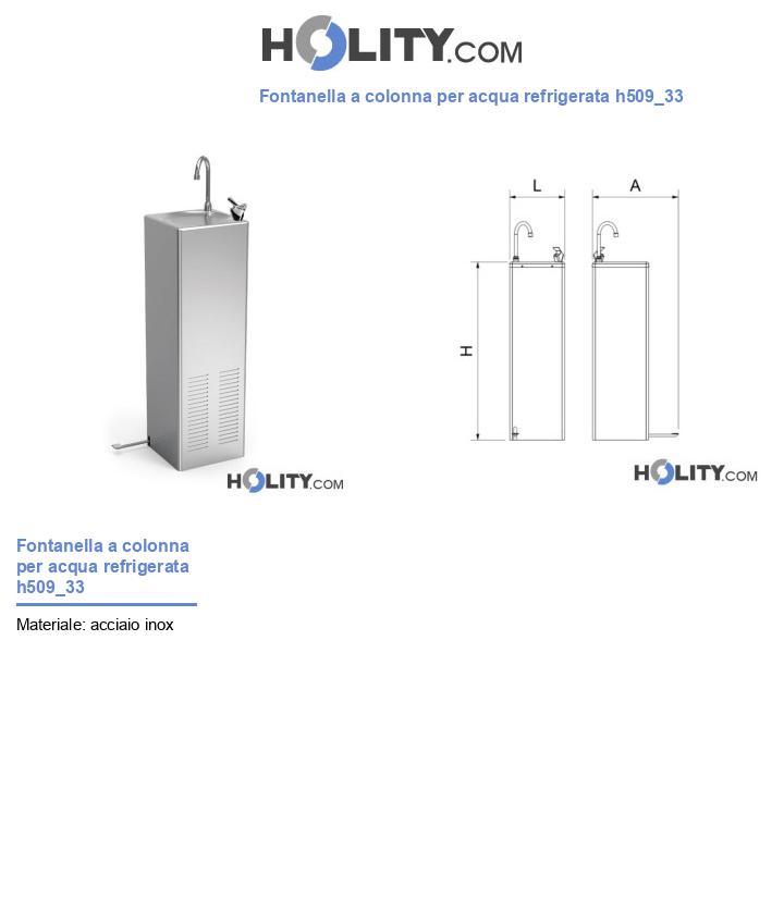 Fontanella a colonna per acqua refrigerata h509_33