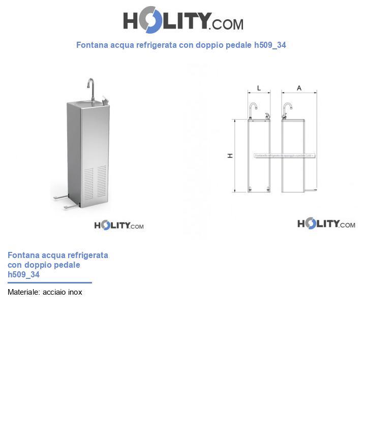 Fontana acqua refrigerata con doppio pedale h509_34
