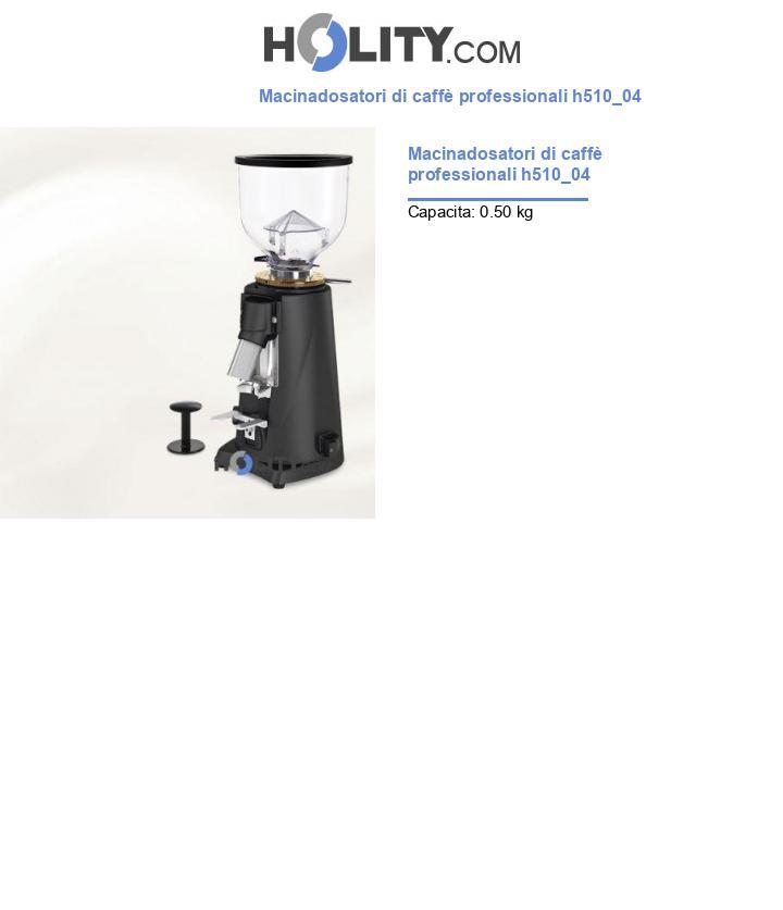 Macinadosatori di caffè professionali h510_04