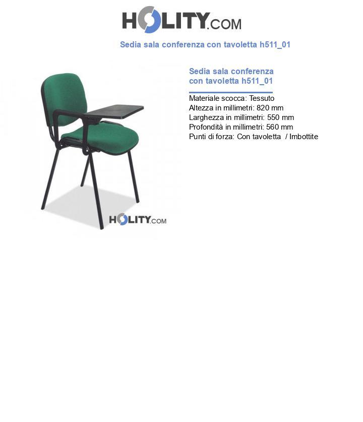 Sedia sala conferenza con tavoletta h511_01