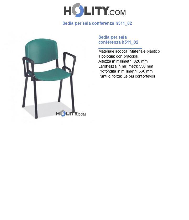 Sedia per sala conferenza h511_02