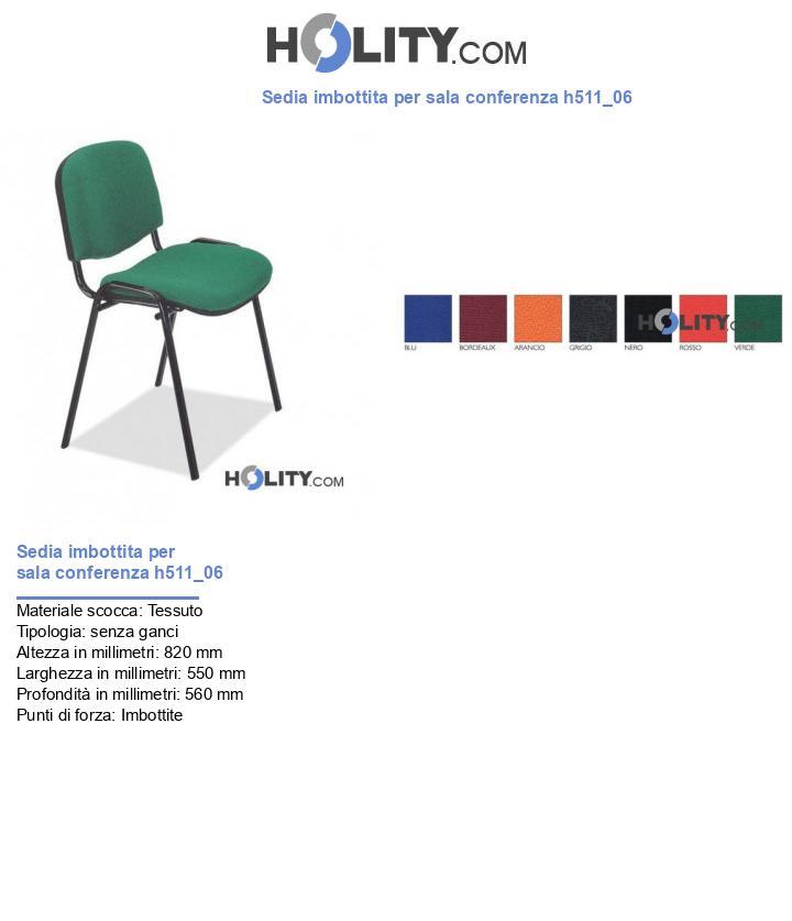 Sedia imbottita per sala conferenza h511_06
