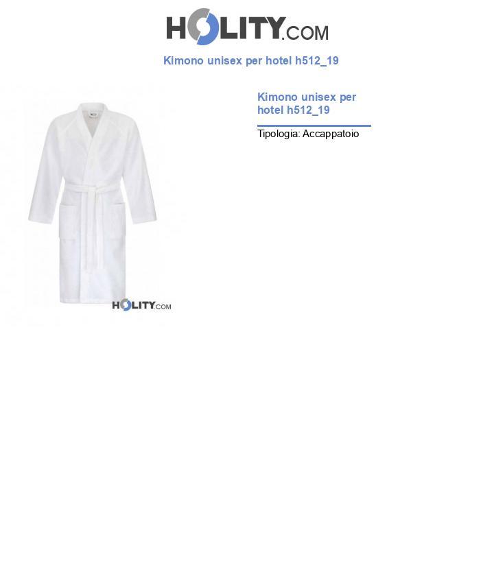 Kimono unisex per hotel h512_19