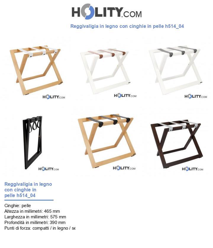 Reggivaligia in legno con cinghie in pelle h514_04
