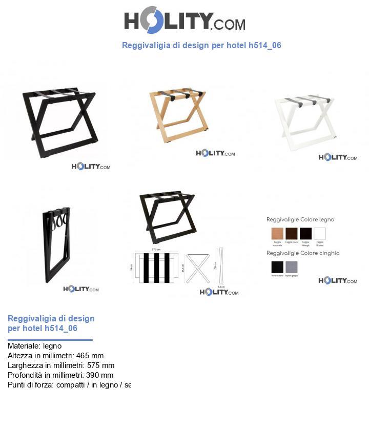 Reggivaligia di design per hotel h514_06