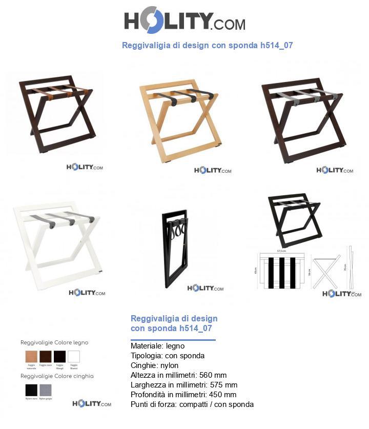 Reggivaligia di design con sponda h514_07