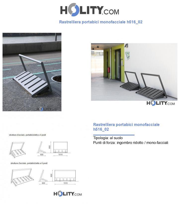 Rastrelliera portabici monofacciale h516_02