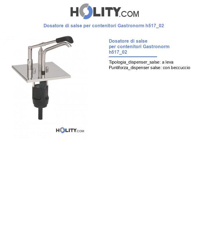 Dosatore di salse per contenitori Gastronorm h517_02