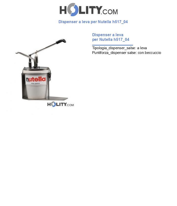 Dispenser a leva per Nutella h517_04