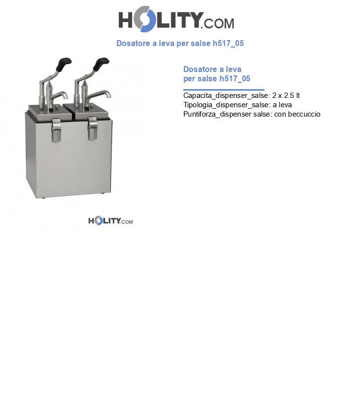 Dosatore a leva per salse h517_05