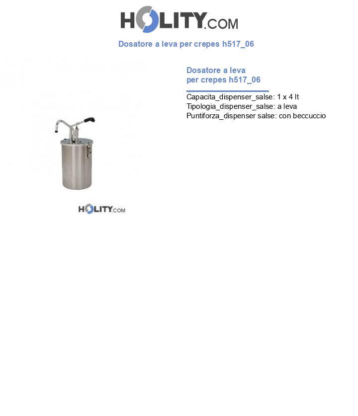 Dosatore a leva per crepes h517_06