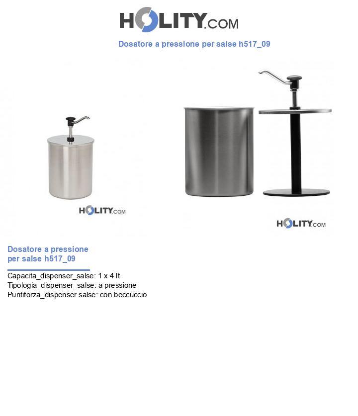 Dosatore a pressione per salse h517_09