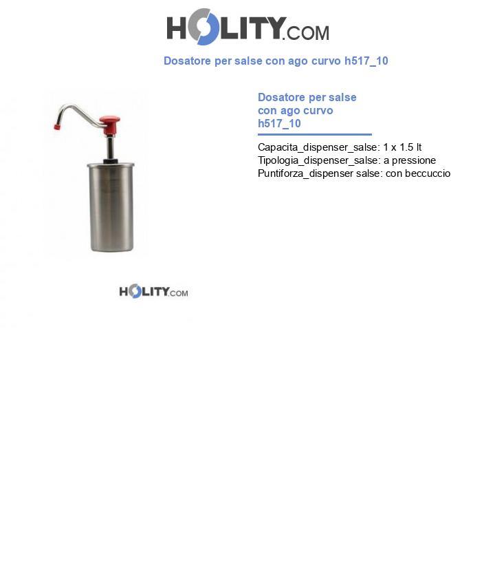 Dosatore per salse con ago curvo h517_10