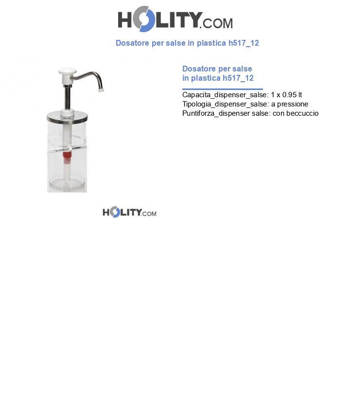 Dosatore per salse in plastica h517_12
