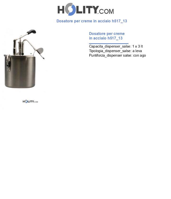 Dosatore per creme in acciaio h517_13