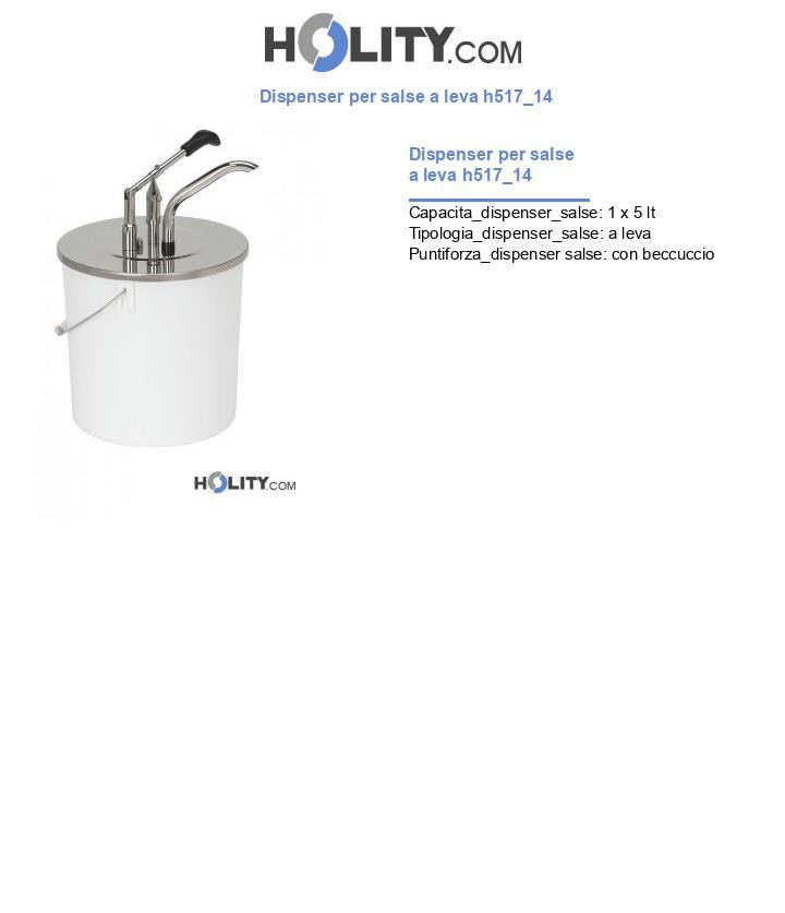 Dispenser per salse a leva h517_14