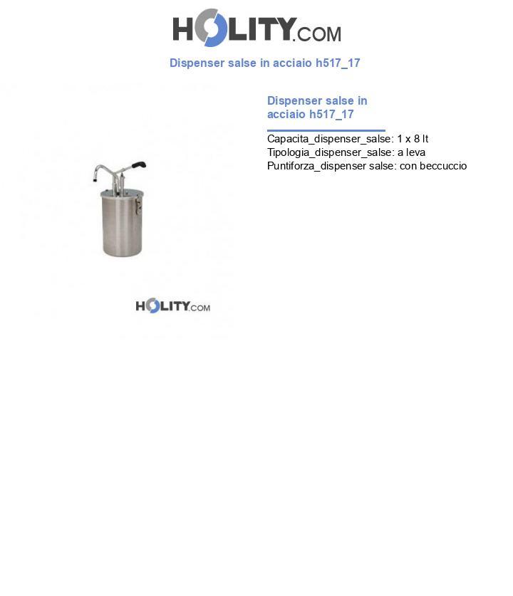 Dispenser salse in acciaio h517_17