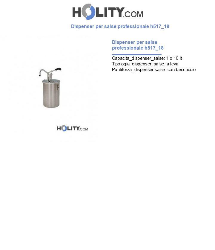 Dispenser per salse professionale h517_18