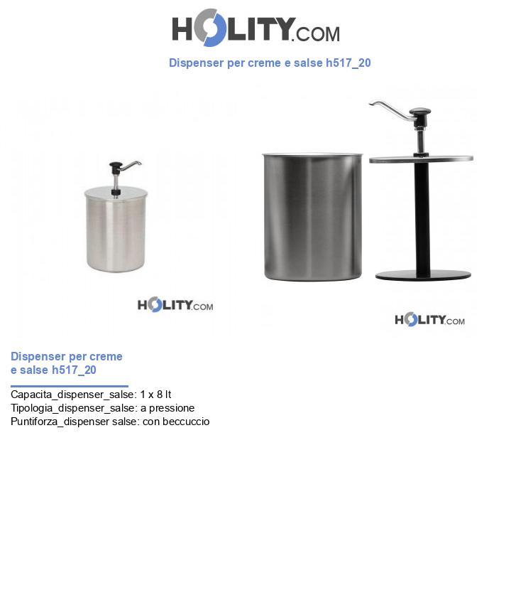 Dispenser per creme e salse h517_20