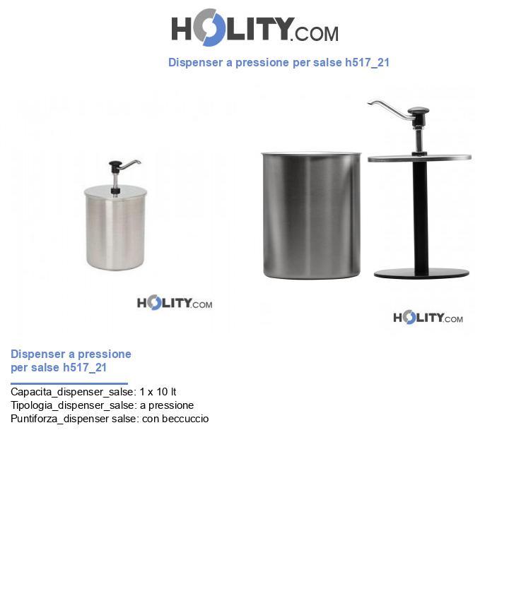 Dispenser a pressione per salse h517_21