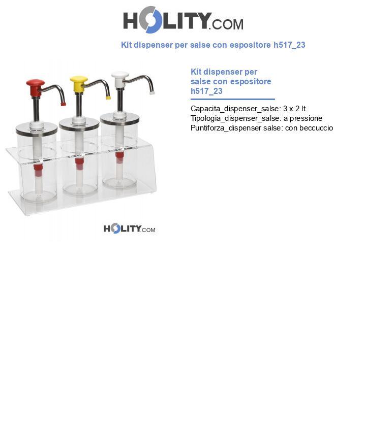 Kit dispenser per salse con espositore h517_23