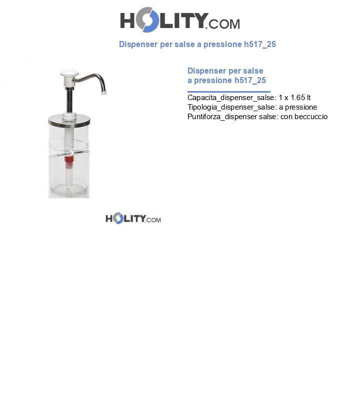 Dispenser per salse a pressione h517_25
